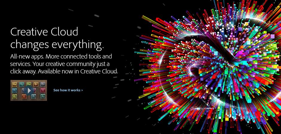 Adobe Creative Cloud website