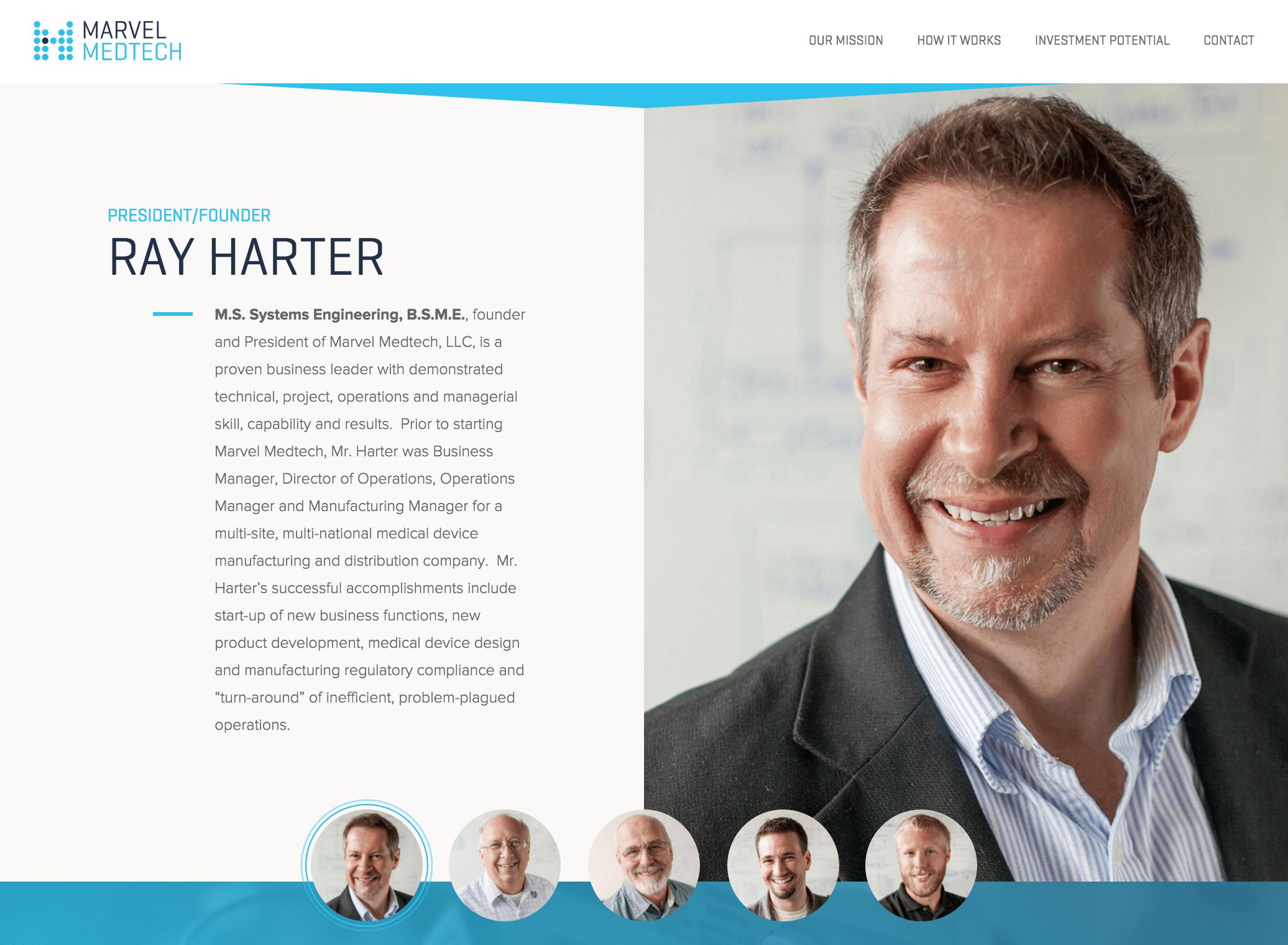 Marvel Medtech Website Design
