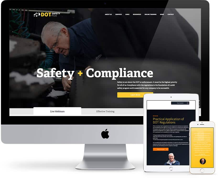 The new dotsafetyplus.com is responsive and professional.
