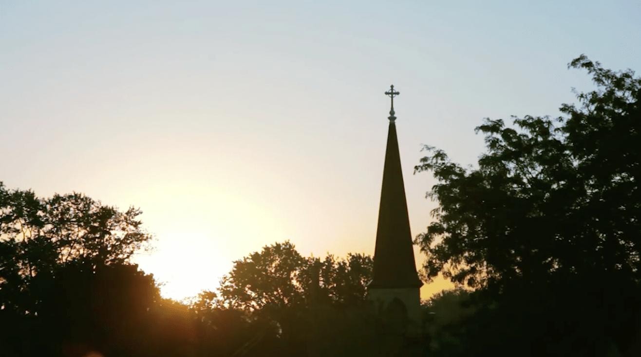 Church drone shot