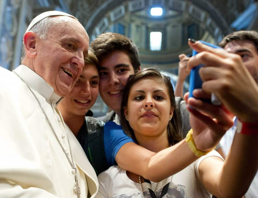 pope and kids